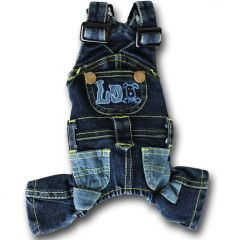 Jeans overalls for Dogs | Jumpsuit for dogs