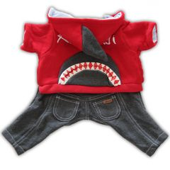 Dog Clothes | Dog Overalls | Red Shark