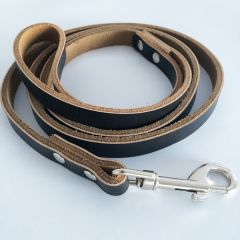 Dog Leash |Black & Brown leather Leash for Dogs