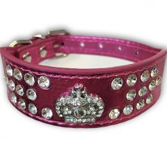 Dog Collar | Fairytale Princess Rosa Wider In Front Collar with Diamond Decorations