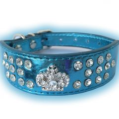 Dog Collar |Fairytale Prince Blue | Wider In Front Collar for Sensitive Dog Neck