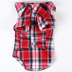 Dogs Red Checked Shirt Rauff Loren | DiivaDog.com