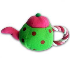 Dog Toy | Teapot | Lime | Squeaky Toy | Rope Toy