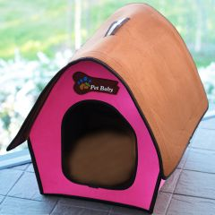 Dog Bed | Cat Bed | Villa Pet Pink Swiss Cottage| Bed for Dogs |Bed for Cats