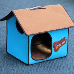Dog Bed, Dog House, Villa Dog Blue Classic, for dog or cat, DiivaDog