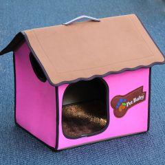 Dog Bed, Dog House, Villa Dog Pink Classic for dog or cat, DiivaDog