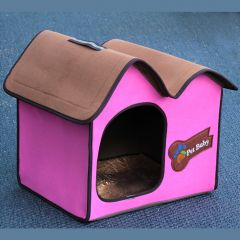 Dog Bed |Cat Bed | Villa Dog Pink Avantgarde | Small House for Dog or Cat