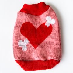 Dog Sweater LoveBone Cupido Pink, DiivaDog