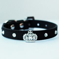 Collar for dogs and cats | Mini King Black Velvet