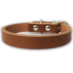 Collar for Dogs and Cats |Mini Leather Brown Minimalistic