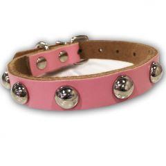 Dog Collar | Cat Collar | Soft Leather Rose Rivet Collar