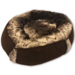 Dog Bed | Cat Bed | Luxury Chocolate Brown Nest Bed | Bed for Dogs | Bed for Cats | Warm and Soft Pet Bed