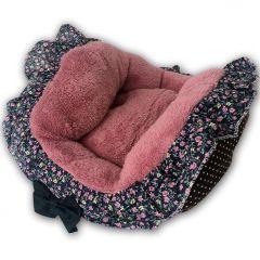 Dog Bed | Cat Bed | Rose Flower Frill