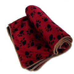 Dog Bed |Royal Gold & Red Sleepign Pad for Dogs |Paw Pattern |Bed for Dogs