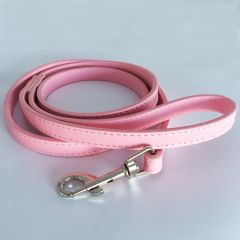 Dog Leash | Total Pink Leather Leash for Dogs