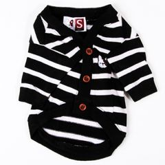 Dogs black and white striped cardigan Rauff Loren