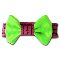 Dog's Bow Tie, Fresh Cool Lime, with clips, DiivaDog