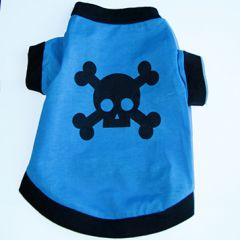 Dog T-Shirt Skull Blue |Back | DiivaDog.com