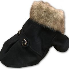 Dog Clothes | Dog Jacket Oh Paris Chic | Soft Fleece Lining and Fake Fur Collar