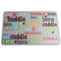 Dog Food Mat | Live & Love & Cuddle & Sooze