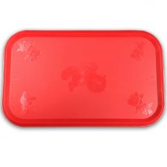Rubber Red Table Setting for Pets