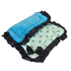 Pet sleeping mat Polka Dot Blue | Bed for Dogs or cats