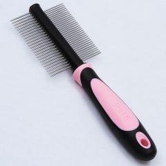 Dog Supplies | Stainless Steel Comb | 2-Sided Grooming Comb | Anti Tangle Comb
