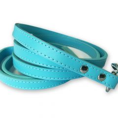 Dog Leash | Total Blue Leather | Leather Leash for Dogs