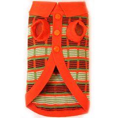 Dog Sweater  Orange Striped