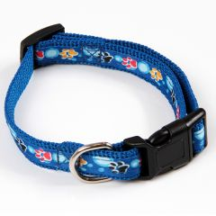 Color Paws blue collar for dogs and cats!