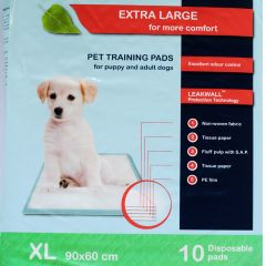XL-size Puppy pads 90x60 cm disposable, Pet training pads