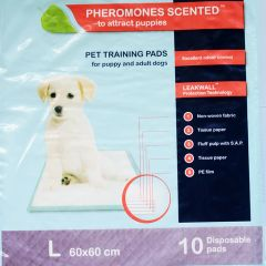 Pheromones scented Pet pads 60 x 60 cm disposable, 10 pcs/ bag