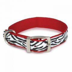 Dog Collar | Cat Collar | Zebra Red & Black & White