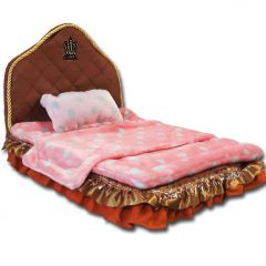Pet Bed Royal Pink Crown | Bed for Dogs
