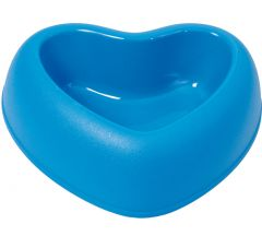 Dog's and Cat's food bowl,Heart Shaped Amore Blue, DiivaDog