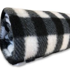 Nap Blanket Fleece Black White Checkered | DiivaDog.com