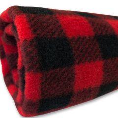 Fleeceblanket Dog or Cat Black-Red| DiivaDog.com