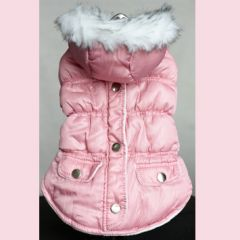 Dog Quilted jacket | Light pink dream | Lightweight and warm | DiivaDog.com