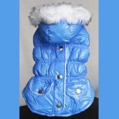 Dog Quilted jacket | Light blue dream | Lightweight and warm | DiivaDog.com