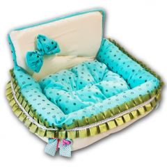 Dog Bed | Turquoise Dream | Small Dog Supplies