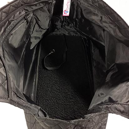 kantolaukku basic black interior